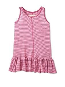Peas & Queues Kids Piper Striped Tank Dress (Pink)