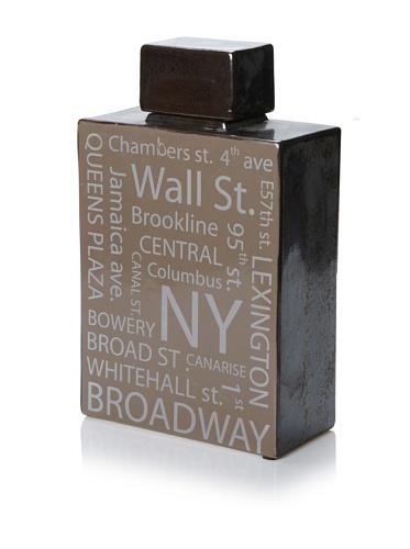 Mercana Décor Crossen Vase (Brown/Metallic)