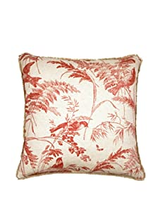 """Lacefield Designs Bird Toile 20"""" x 20"""" Pillow, Spiced Coral"""