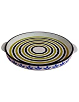 Awadhcrafts Ceramic Pizza Dish (5 cms x 30 cms x 25 cms)