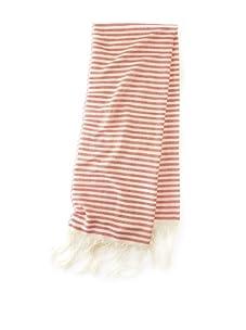 Mili Designs Women's Essouria Striped Cotton Scarf (Red Stripe)