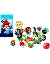 Angry Birds Pogs Power Caps Tazos Game Single Booster Pack / Includes 6 Pogs & 1 Slammer