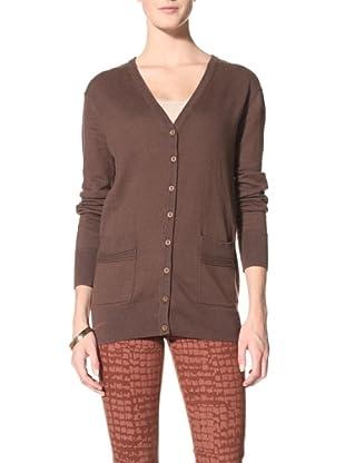 Suss Knitwear Women's Yoshi Boyfriend Cardigan (Lentil)