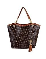 Brown Leather Messenger Handbag