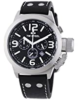TW Steel Men's TW6 Canteen Brown Leather Black Chronograph Dial Watch