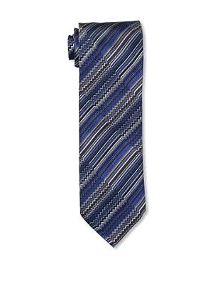 Missoni Men's Zigzag & Stripes Tie, Blue/Beige
