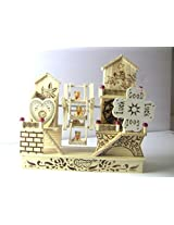 Qualways Wooden Toy Teddy House For Kids Or Home Decor