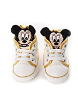 Baby Bucket First Waking Mickey Mouse White Color Baby Boy's & Baby Girl's Shoes