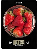 Digiscale Multifunctional Digital Kitchen Scale, Elegant Black Weight Watchers Food Scale for Weight Loss Management, Counts Grams Ounces ML Fl Oz Lbs with 0.1oz or 1 Gram Minimum Digital Precision Batteries and Bonus Recipe Guide Included