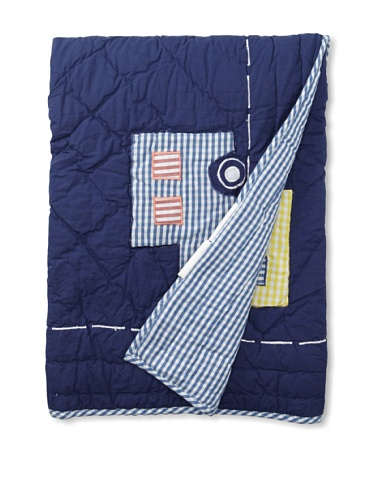 Amity Home Toy Cars Baby Quilt (Navy/Multi)
