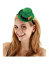 elope Mini Leprechaun Sequin Hat, Green, One Size
