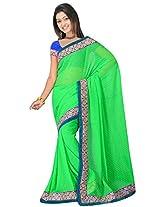 Sehgall Saree Indian Bollywood Designer Ethnic Professional Designer Material Jacquard Green