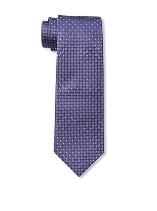 Yves Saint Laurent Men's Dot Grid Tie, Purple