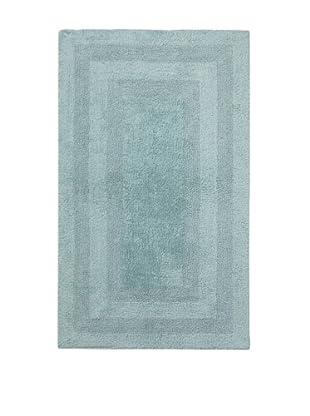Terrisol Reversible Cotton Bath Rug (Aqua)