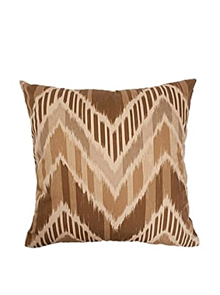 The Pillow Collection Aacharya Zigzag Pillow, Mocha
