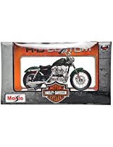 Maisto Harley Davidson 2012 XL1200V Seventy-Two Scale-1:18 Die Cast Toy Motorcycle (Green)