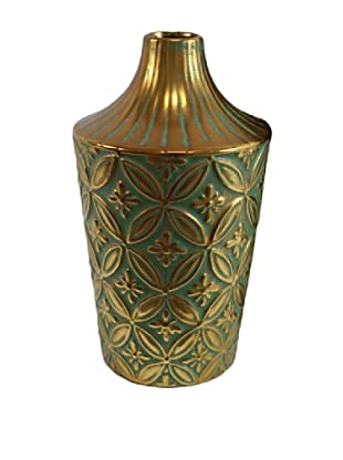 Molina Vase II, Gold/Green