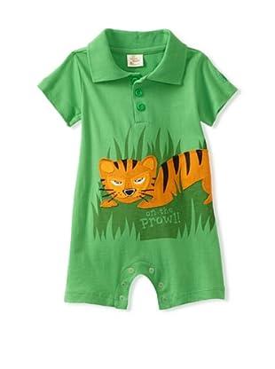 Da Lil Guys Baby Short Sleeve Polo Romper (Tiger)
