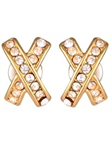 Estelle Gold Plated Studs with CZ's for Women (ESER342-705)