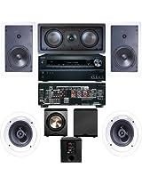 Klipsch R-1650-W In Wall #2 5.1 System-Onkyo TX-NR626 7.2-Ch-FREE PL-200