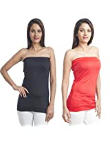 Teemoods Womens Viscose Long Sleeve Top (Tm-C-1465Blk&Red-L _Black N Red _Large)