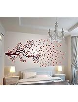 Wallcano Decals Design Lovely Autumn Tree 1027 Wall Sticker