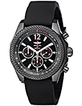 """Breitling Men's M4139024-BB85 """"Barnato 42"""" Stainless Steel Automatic Watch with Black Rubber Band"""