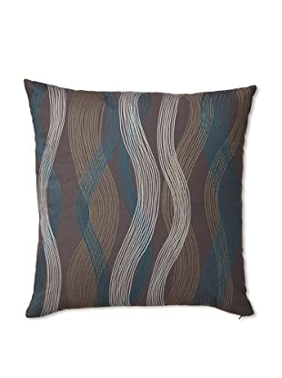 Zalva Seego Charcoal Decorative Pillow, Grey/Blue/Cream, 20