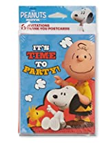 American Greetings Peanuts Invite And Thank You Combo Pack (8 Count)