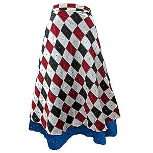 Indiatrendzs Women's Multiwear Art Silk Wrap Around Skirt Collegewear Skirt/ Dress Long Skirt (Light Shade,35)