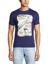 Probase Men's Crew Neck Cotton T-Shirt