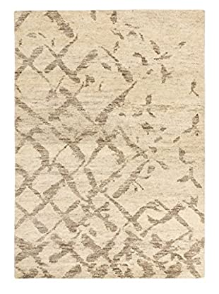 eCarpet Gallery One-of-a-Kind Hand-Knotted Royal Maroc Rug, Cream/Grey, 4' 1