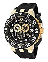 Challenger Black Silicone Chronograph Black Dial Gold-Tone Case (10125-Yg-01)