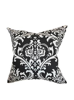 The Pillow Collection Malaga Damask Pillow, Black