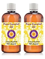 Pure Coconut Oil - Pack of Two (100ml + 100ml) Cocus Nucifera 100% Natural Cold pressed
