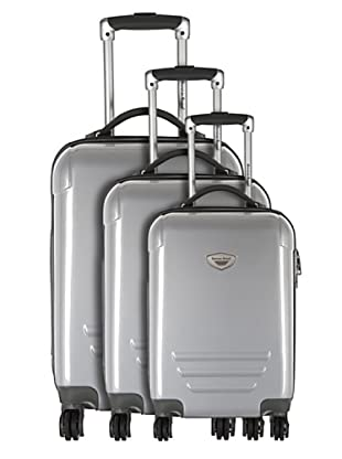 American Revival by Platinium Set 3 Trolleyss 4 Ruedas Colors (Plata)