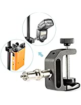 "Neewer Q-Type Multifunctional Aluminum Clip with 1/4""&3/8"" Screws for Battery Pack,Flash Speedlites,Photo Studio Lights and Other DSLR Camera Accessories"