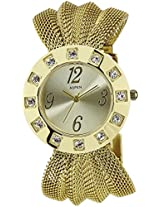 Aspen Feminine Exclusive Analog Gold Dial Women's Watch - AP1103