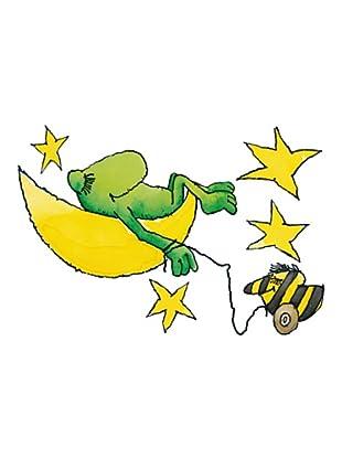 Beiwanda Kids Wandtattoo Frosch, Tigerente, Mond und Sterne