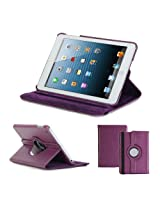 GMYLE(R) Purple PU Leather 360 Degrees Rotating Swivel Folio Flip Case Cover with Multi-angle Stand Function for iPad Air iPad 5 (Not Fit for iPad Air 2)