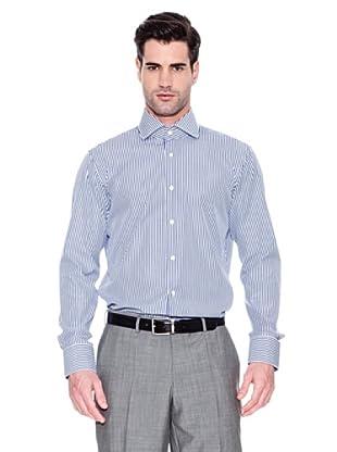 Hugo Boss Camisa Geraldino (Azul Marino / Blanco)