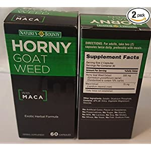 Nature'S Bounty Horny Goat Weed With Maca - 60 Capsules