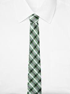 Ben Sherman Men's Westin Plaid Tie (Green)