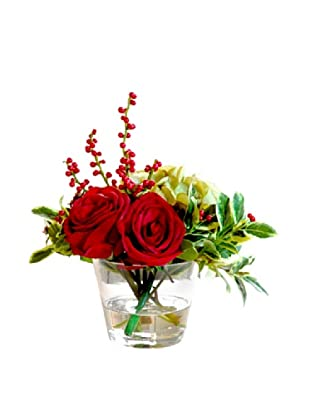Winward Rose Mix in 14'' Vase (Red)