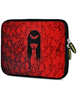Amzer 7.9 - 10.5 Inches Designer Neoprene Sleeve Case for iPad/Tablet/e-Reader and Notebooks, Red Field Girl (AMZ5229105)