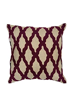 Villa Home Intrigue Pillow, Burgundy