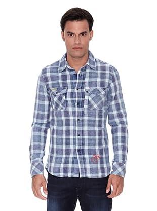 Pepe Jeans London Camisa Henshaw (Azul / Blanco)