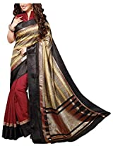 Fashion Apparel Women's Cotton Silk Saree with Blouse Piece (Red)