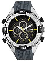 Sonata Ocean Series III Analog-Digital Multi-Color Dial Unisex Watch - 77028PP01J