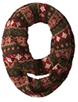 Muk Luks Women's Heritage Chunky Fairisle Eternity Scarf, Trailblazer, One Size